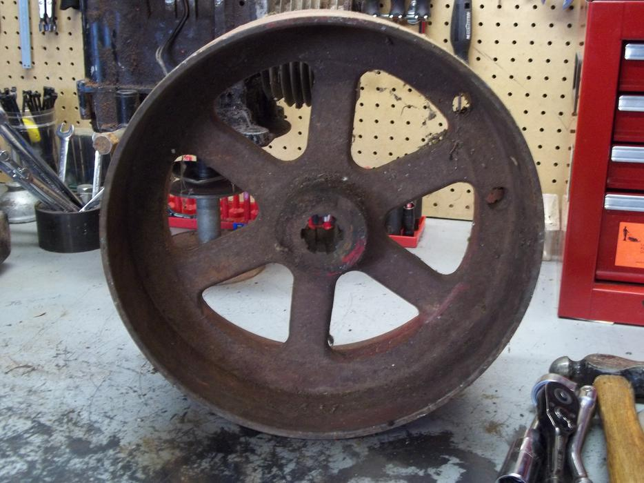 Antique Two Wheel Tractor : For sale flat belt side power take off wheel antique