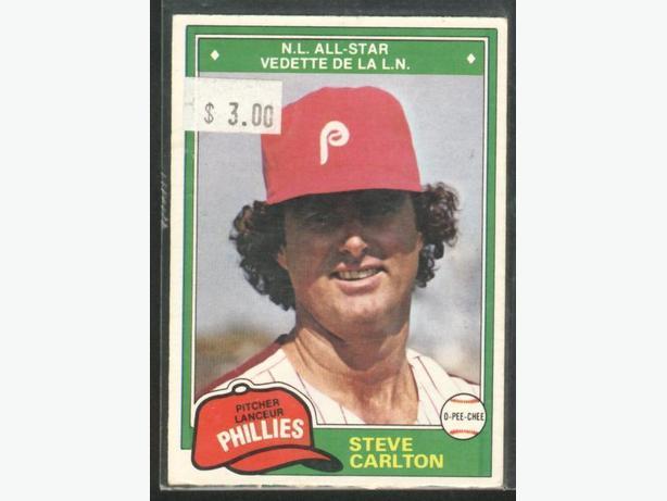 1981 O-Pee-Chee #203 Steve Carlton Philadelphia Phillies
