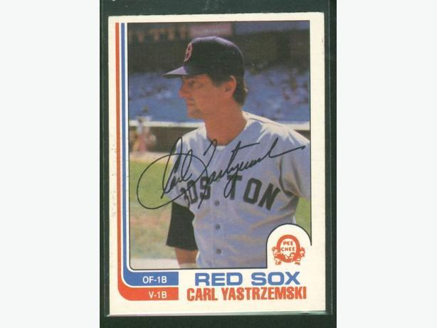 1982 O-Pee-Chee #72 and 385 Carl Yazstremski Boston Red Sox