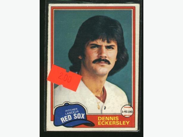 1981 O-Pee-Chee #109 Dennis Eckersley Boston Red Sox