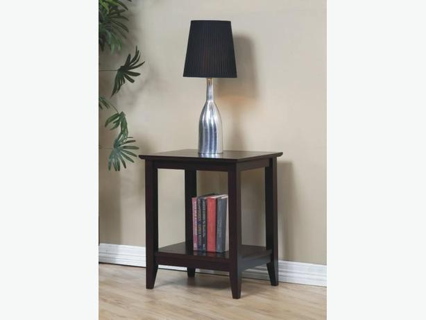 New Quadra End Table Solid Hardwood