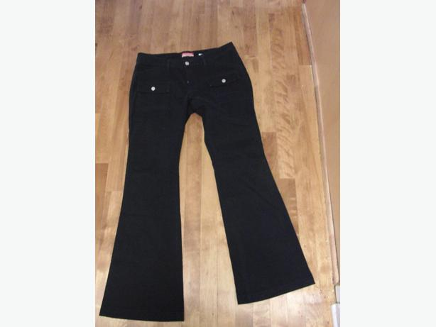 Dark Navy UnionBay Stretch Flare Jeans with Front Snap Pockets - Sz 32