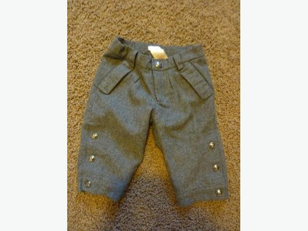 Grey Wool Pants - Size 3