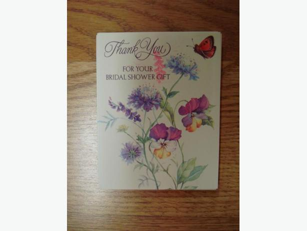 13 New Bridal Shower Thank You Greeting Cards - $1 for all!