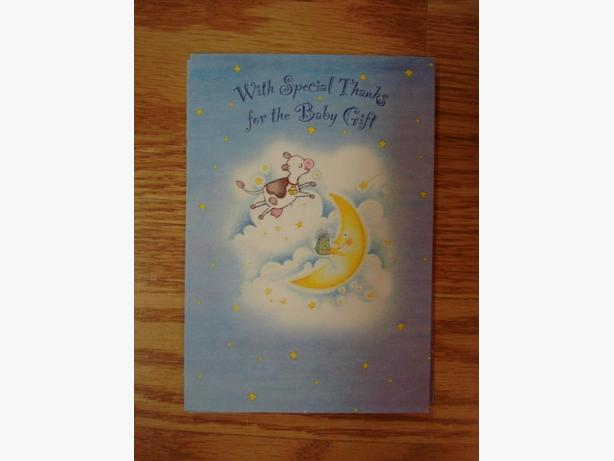 5 New Large Baby Shower Greeting Cards with Envelopes - $1.00 for all!