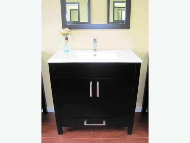 36 Solid Wood Bathroom Vanity Richmond Vancouver