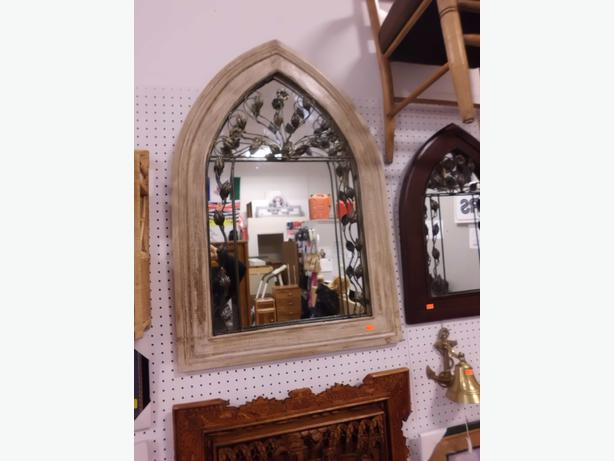 Large church style mirror outside nanaimo parksville for Church style mirrors