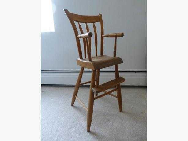 Antique arrow back high chair