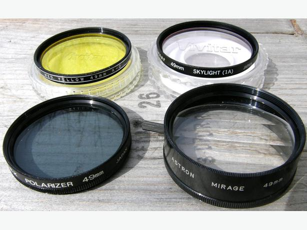 CAMERA LENS FILTERS FOR SALE 37 46 49 52 55 62mm VGC