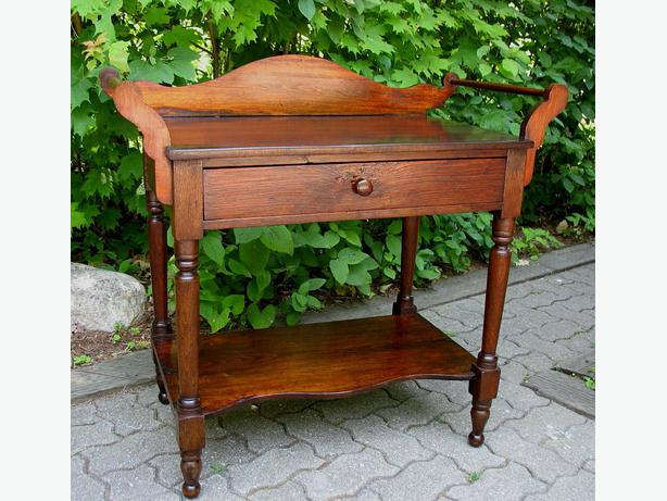 Antique Canadiana Open Washstands or Night Tables
