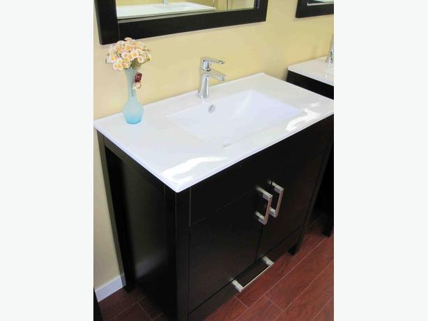 "30"" Solid Wood Bathroom Vanity with Faucet -ONLY $519"