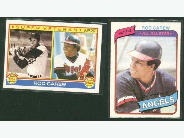 Rod Carew Lot Minnesota Twins California Angels