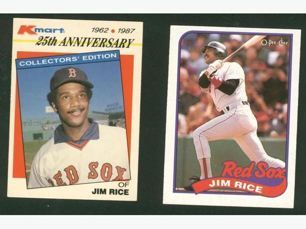 Two Jim Rice Cards Boston Red Sox