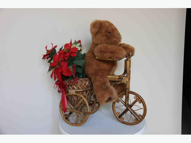 Teddy Bear Bicycle Planter