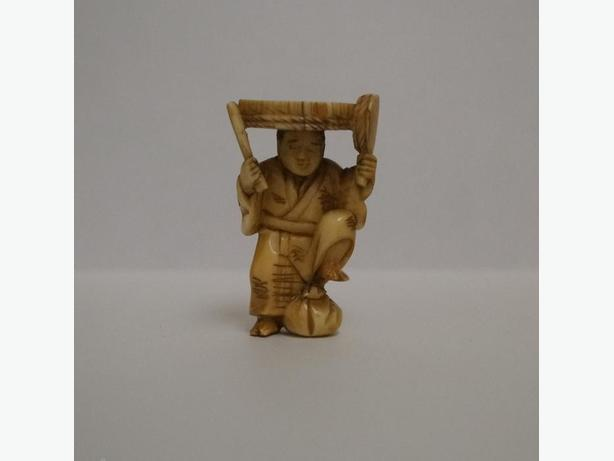 Carved Netsuke - Shaman.