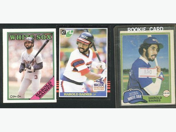 Three Harold Baines Cards Rookie Card Chicago White Sox