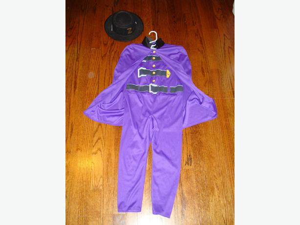 Zorro Costume with Hat Halloween or Dress Up 4-7  $5