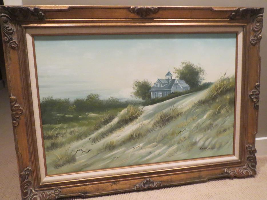 Seascape house on dunes oil on canvas central saanich for 5334 seascape terrace nanaimo
