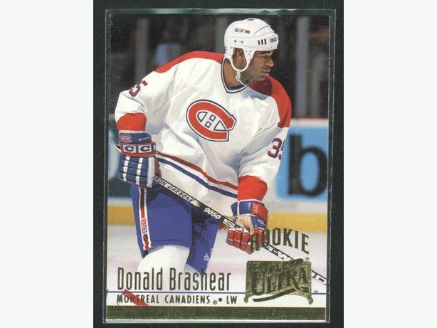 94/95 Fleer Ultra Donald Brashear Rookie Card Canadiens