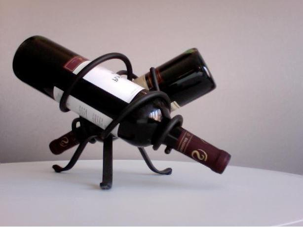 Wrought Iron Contemporary Wine Rack