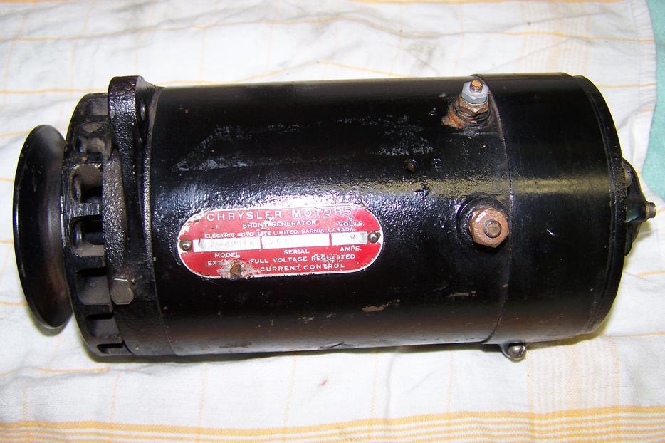 Vintage Chrysler Motors 6 Volt Generator Saanich Victoria