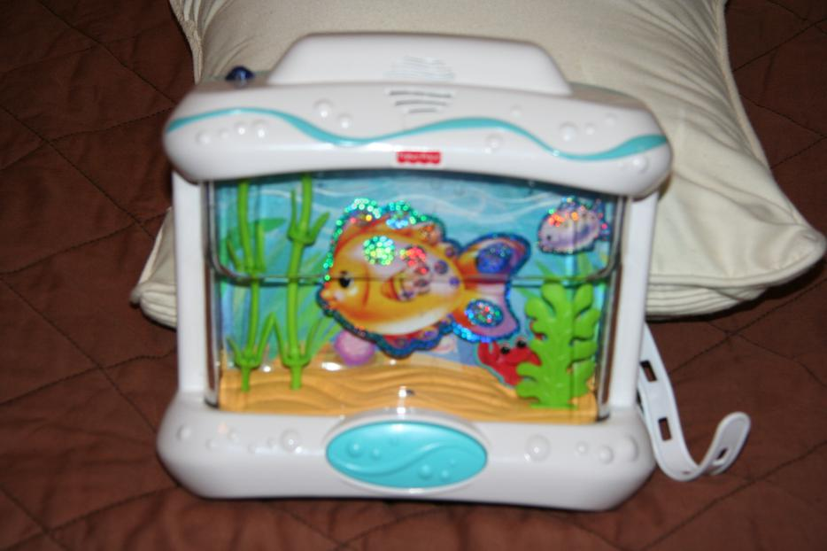 fisher price crib aquarium with remote west shore langford colwood metchosin highlands