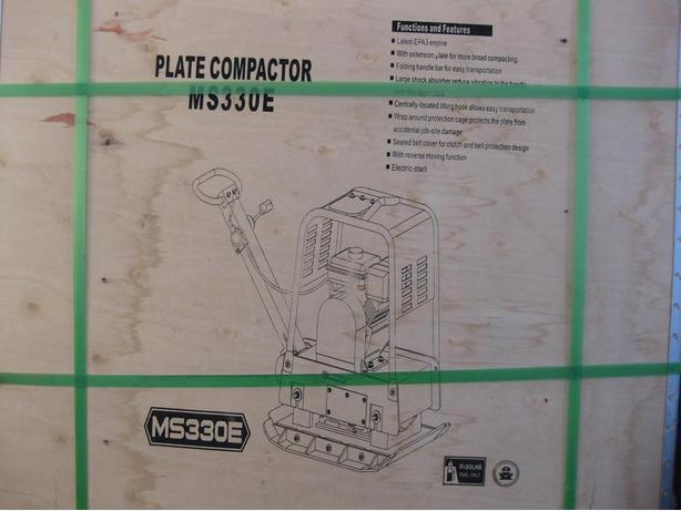 MS 330E PLATE COMPACTOR c/w ELECTRIC START