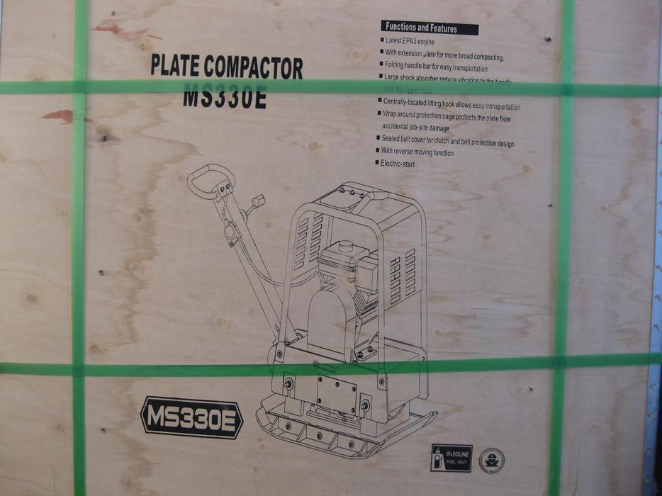 $3,474 · MS 330E PLATE COMPACTOR c/w ELECTRIC START