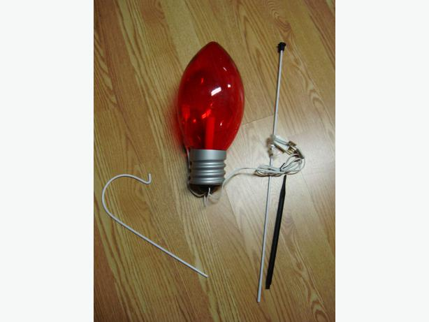 Brand New Giant Red Light Electric Bulb Decoration! 1 Bulb Left $1