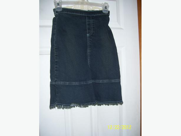 Girl's black denim skirt size 8