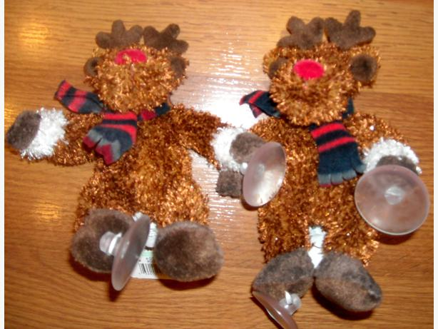 SUCTION CUP CHRISTMAS CHARACTERS