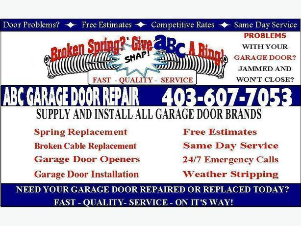Abc Garage Door Repair is available for all your garage needs