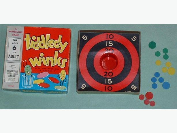 1950's Tiddley Winks Game Canadian