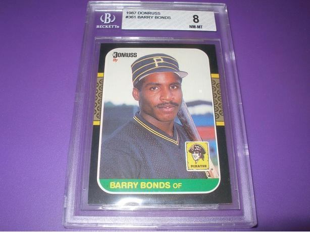 BARRY BONDS GRADED ROOKIE CARD DONROSS