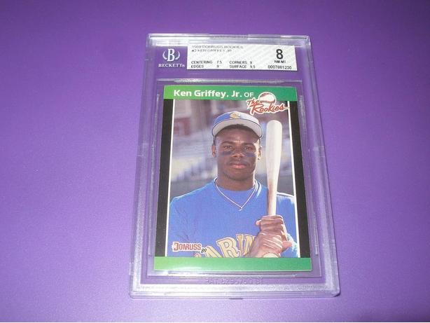 KEN GRIFFEY JR GRADED ROOKIE CARD DONROSS