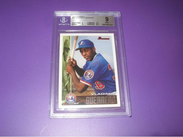 VLADIMIR GUERRERO GRADED ROOKIE CARD