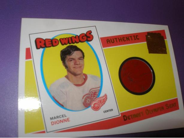 MARCEL DIONNE DETROIT OLYMPIA SEAT CARD