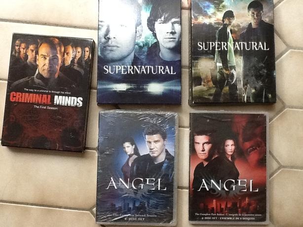 TV series DVDs for sale: Supernatural, Criminal Minds, Angel