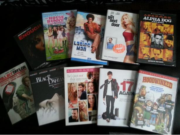 Variety of DVD's in EXCELLENT condition!
