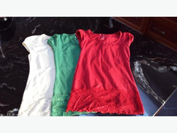 3 x T Shirts with lace