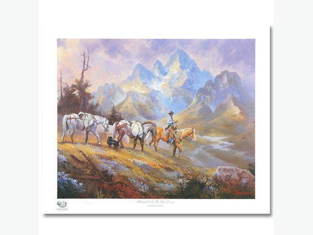 "Price Reduced - ""Packing Out High Country"" by Stephan Baumann"