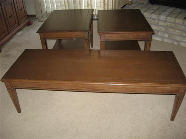 Italian Provincial Coffee Table And End Tables Charleswood River Heights Tuxedo Linden