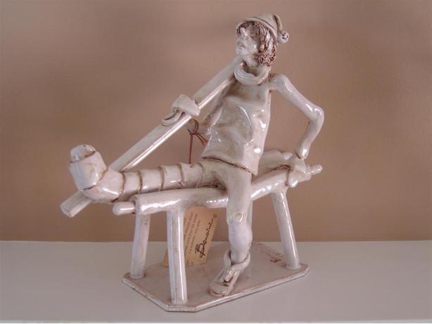 Original vintage Dino Bencini Broken Leg Skier Figurine
