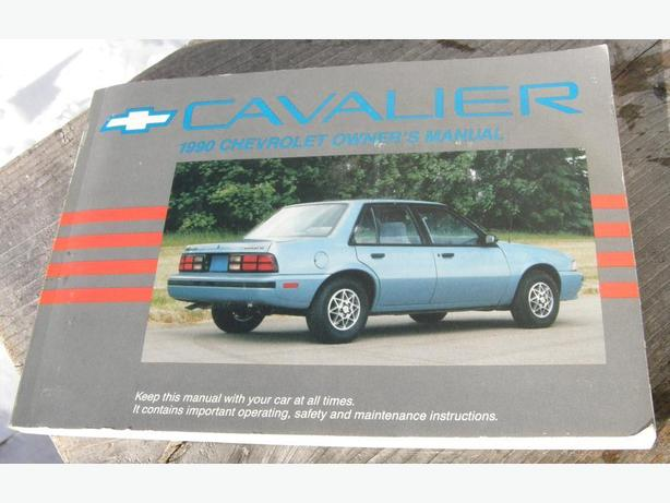 1990 Chevy Cavalier Owners Manual VGC