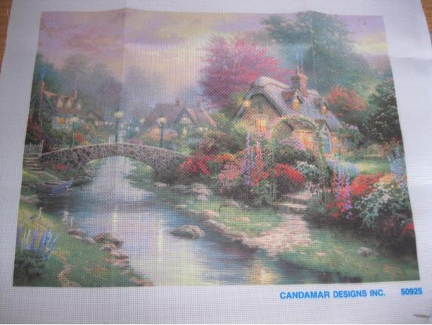 BRAND NEW - THOMAS KINCADE Color Art cross-stitch canvas