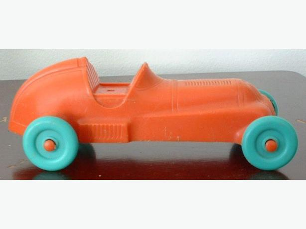 Vintage Red Plastic Race Car 1960's