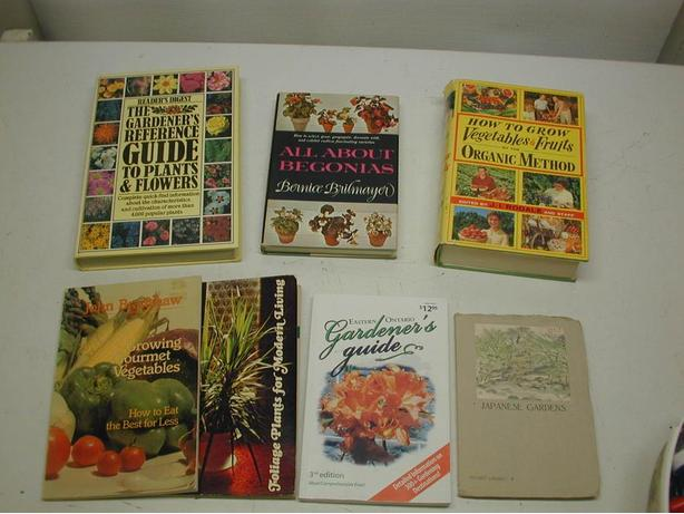 Boxes of Various Gardening Books by