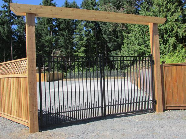 Westcoast Custom Gates Ltd. - Aluminum Dual Swing Gates - Powder Coated