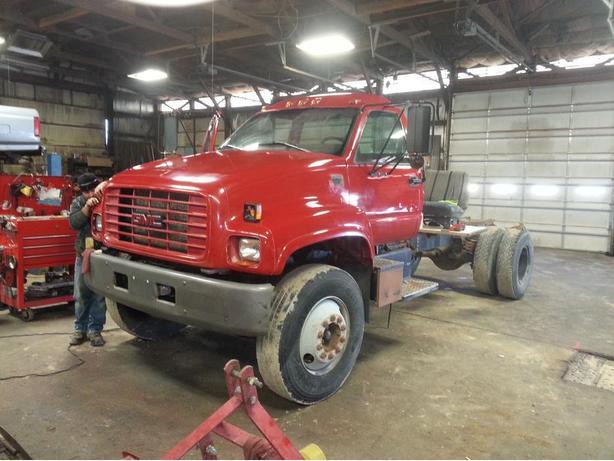 truck $7,000,(flat deck add $1,500) DUMPING flat deck add $2800