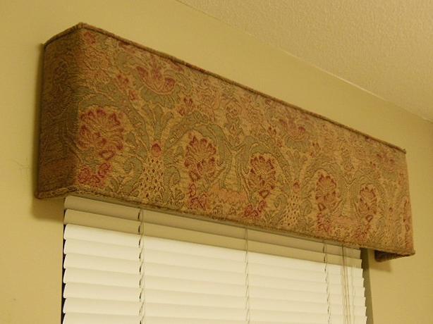 Upholstered Window Box Valance